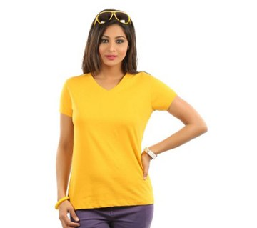 Ladies Yellow Color T-Shirt