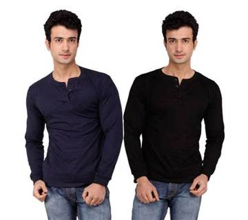 Gents Full Sleeve Cotton T-Shirt (Combo)
