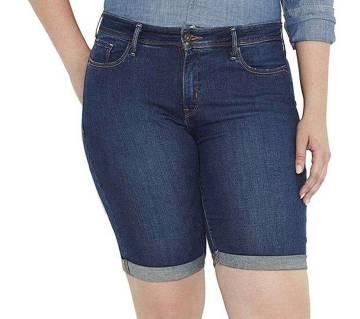 Denim Shorts For Women -Blue