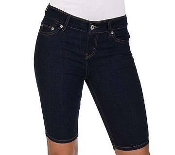 Women Black Denim Shorts