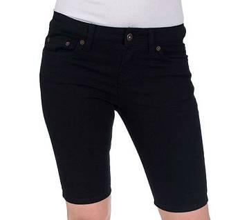 Denim Shorts For Women -Black