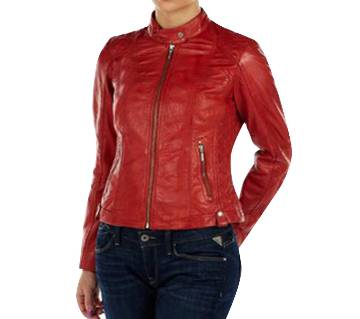 Ladies Full Sleeve Artificial Leather Jacket