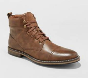 Brown Suede Casual Boot for Men