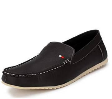 Black Leather Loafer for Men