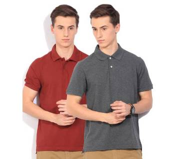 Gents 2Combo Half Sleeve Cotton Polo Shirt