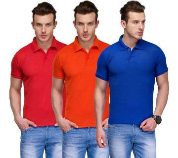 Gents 3Combo Half Sleeve Cotton Polo Shirt