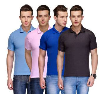 Gents 4Combo Half Sleeve Cotton Polo Shirt