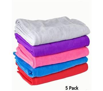 Pack of 5 Microfiber Blanket - (60 x 80)