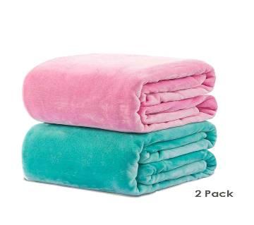 Pack of 2 Microfiber Blanket - (60 x 80)