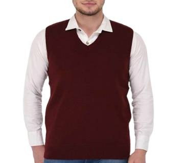 Gents Sleeveless Cotton Sweater