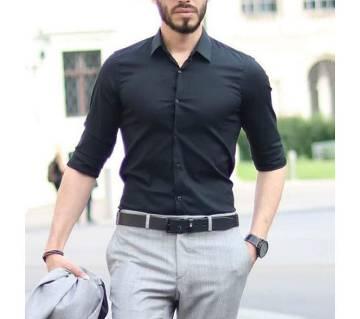 Full Sleeve Shirt For Men -Black
