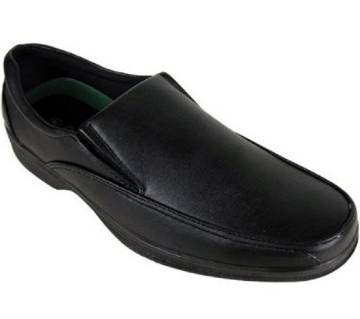 Black Artificial Leather Shoes For Men