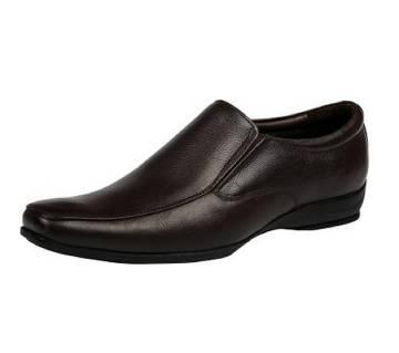 Black Artificial Leather Shoes For Men