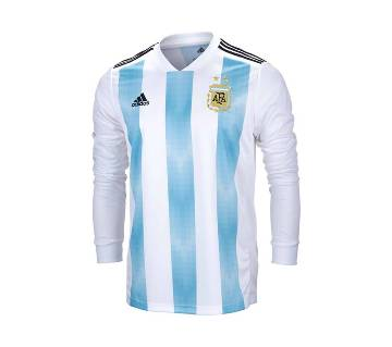 2018 World Cup Argentina Jersey - Full Sleeve-Copy