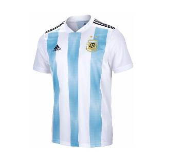 2018 World Cup Argentina Jersey - Half Sleeve-Copy