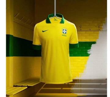 2018 World Cup Brazil Jersey - Half Sleeve-Copy