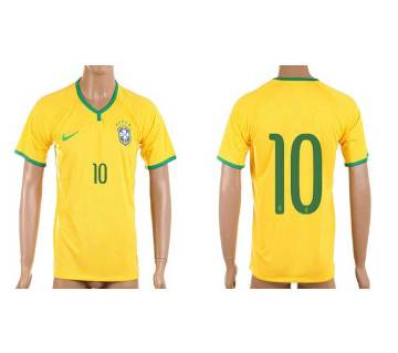 2018 World Cup Brazil Jersey - Half Sleeve
