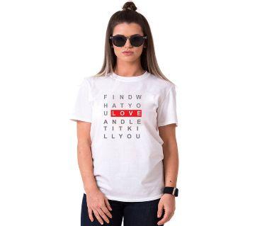 LOVE Ladies Half Sleeve Cotton T-Shirt