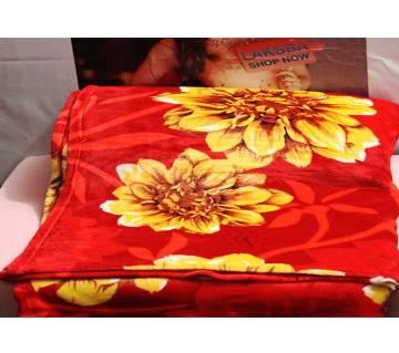 Flower printed  winter Blanket