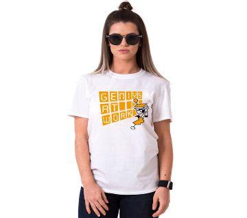 Genius At work Ladies Half Sleeve Cotton T-Shirt