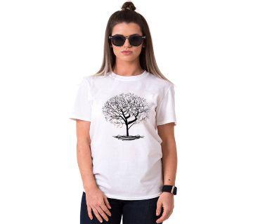 Tree Ladies Half Sleeve Cotton T-Shirt