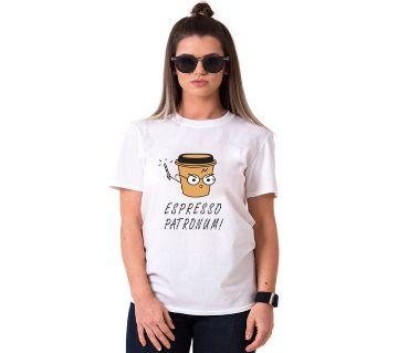 Espresso Ladies Half Sleeve Cotton T-Shirt