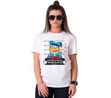 Donald Duck Ladies Half Sleeve Cotton T-Shirt