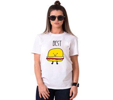 Best Ladies Half Sleeve Cotton T-Shirt