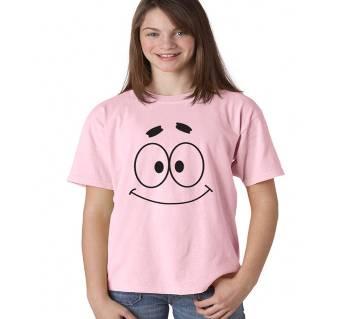 SMILE Ladies Half Sleeve Cotton T-Shirt