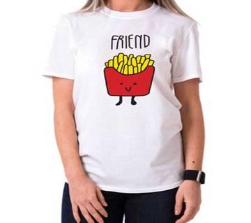 Friend Ladies Half Sleeve Cotton T-Shirt