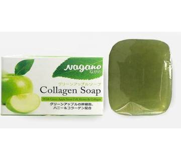 NAGANO Green Apple Collagen Soap 100G-Japan