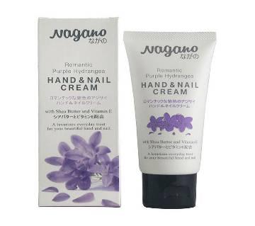 NAGANO HAND & NAIL CREAM  (ROMANTIC PURPLE & HYDRANGEA) 60ML JAPAN