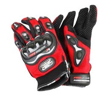 Pro-Biker Hand Gloves - Full Red