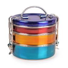 Three layer Tiffin Box with Glossy-Finish