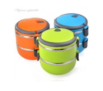 Two Layer Stainless Steel Lunchbox - 1 Piece