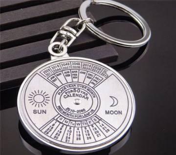 50 year calender key ring
