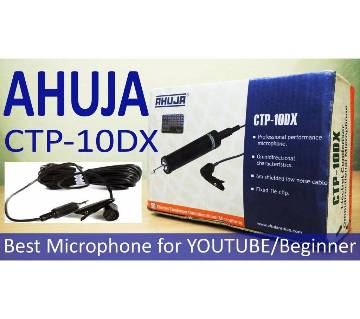 Ahuja CTP 10-DX Clip Microphone - Black