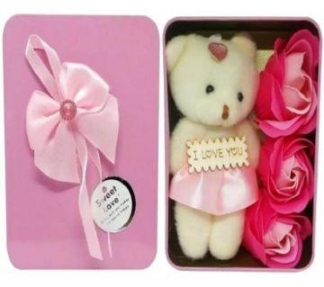 I Love you Panda Doll-Pink গিফট বক্স