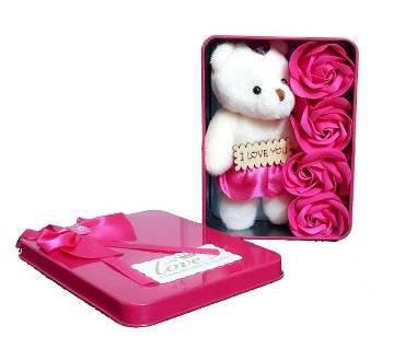 I Love you Panda Doll-Red গিফট বক্স