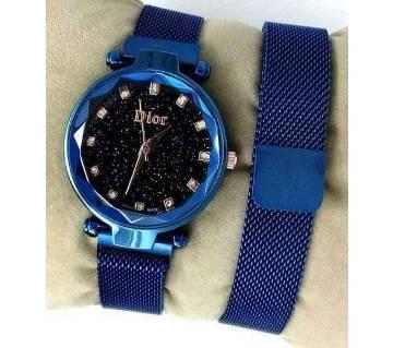 dior magnet ladies watch blue