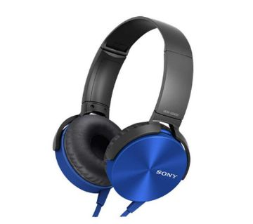 sony extra bass headphone blue
