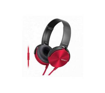 sony extra bass headphone red