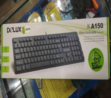 Delux multimedia key-board - KA150 - Black
