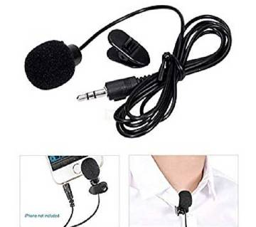 Hands Free Clip On Mini Lapel Microphone for PC Laptop 1.5 Meters 3.5mm