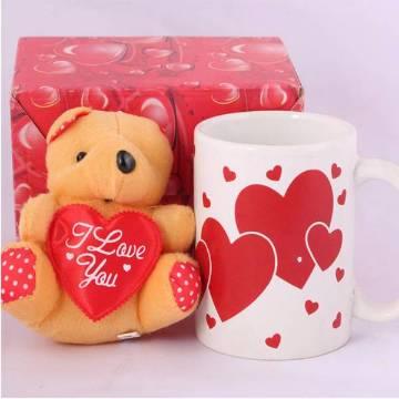 Panda doll and mug