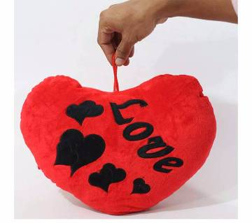 Heart shaped pillow-red