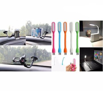Car mobile phone holder and USB light combo offer