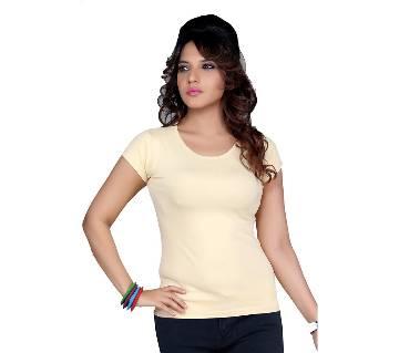 Clifton Womens Plain T-Shirt--Beige