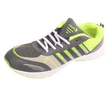 Menz lemon green striped sneakers
