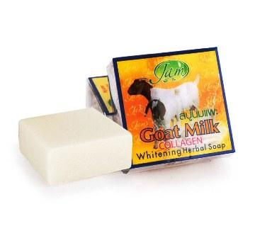 Jam Goat Milk Collagen Whitening Herbal Soap - 50gm